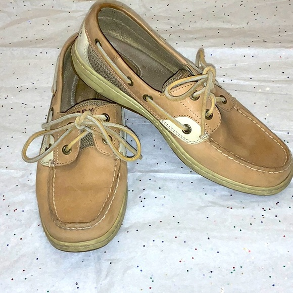 Sperry Top Siders Tan Leather shoe Size 8